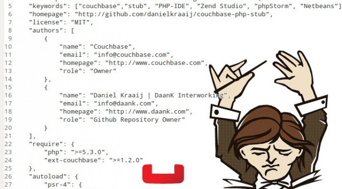 Couchbase php stub file with composer